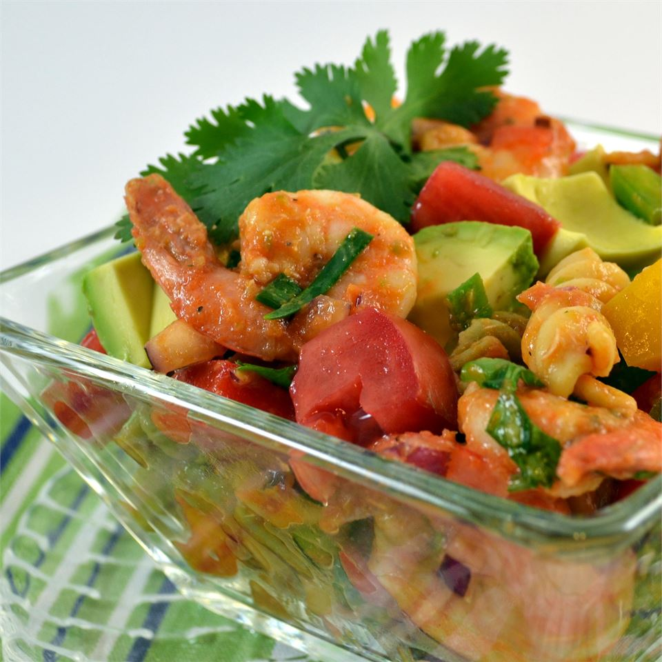 Confetti Shrimp Cocktail Pasta Salad
