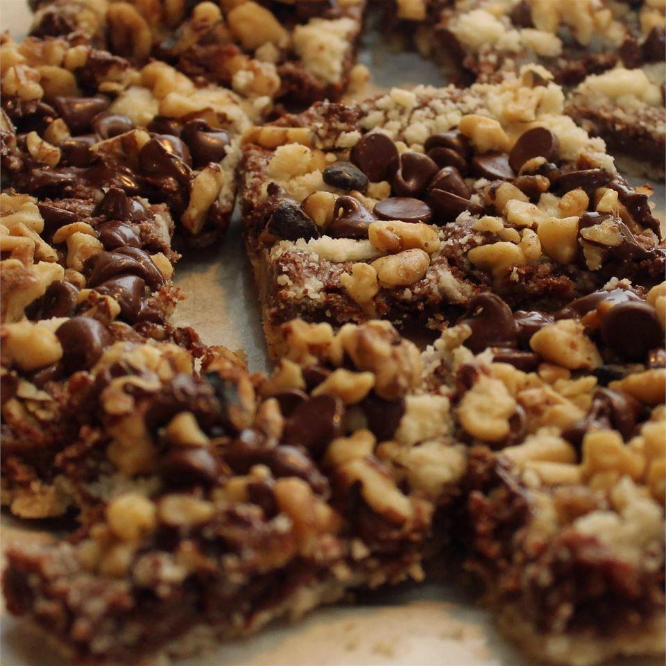 Dark Chocolate Crumb Bars Angie Ilovepuddles Masimore