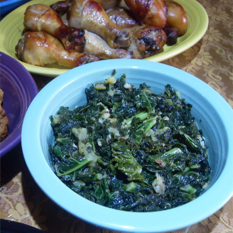 Kale with Kiwi dumblady