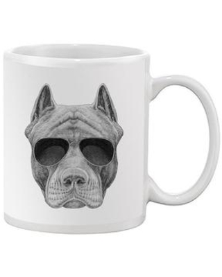 Pit Bull With Sunglasses Mug - Image by Shutterstock
