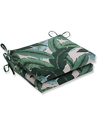 Outdoor Indoor Swaying Palms Capri Square Corner Seat Cushions 2 Count - pillow perfect