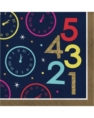 New Year Countdown Napkins, 48 Count Serves 48 Guests