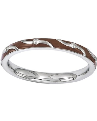 Sterling Enamel Ring - stackable expressions