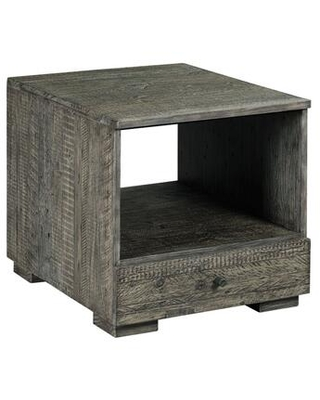 Reclamation Place Shiplap Collection 849 915 RECTANGULAR DRAWER END TABLE - hammary