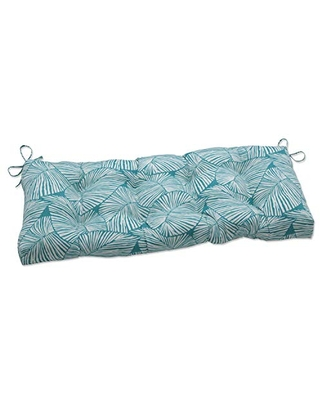 Outdoor Indoor Talia Seaglass Tufted Bench Swing Cushion - pillow perfect