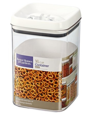 Flip Tite Square Dry Food Storage Container 16 Cup - better homes & gardens