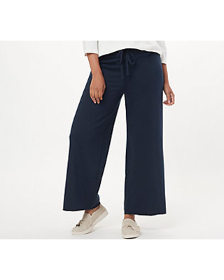 Forever Comfort Ankle Wide Leg Pants withDrawstring - nydj