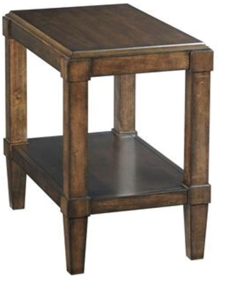 Halsey Collection 620 916 Chairside Table in Dark Rich - hammary