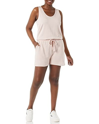 Amazon Brand Women's Supersoft Terry Relaxed Fit Sleeveless Romper - daily ritual