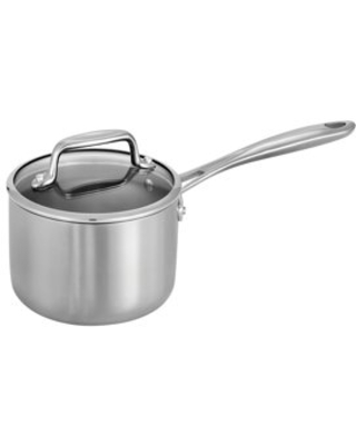 Tri Ply Clad Covered Stainless Steel Sauce Pan - tramontina