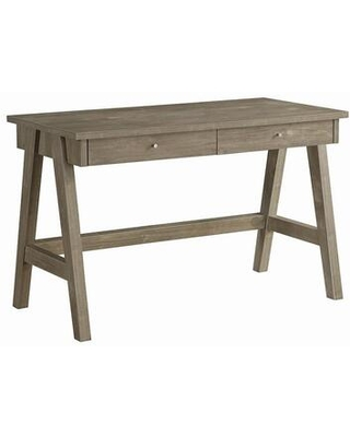 Livemore Collection 803637 riting Desk with 2 Drawers Small Metal Pulls and Sturdy Wood Construction in Weathered - coaster