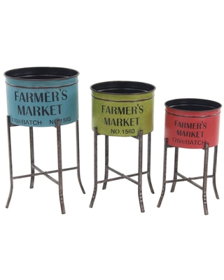 Farmhouse Iron Planters with Stands - olivia & may