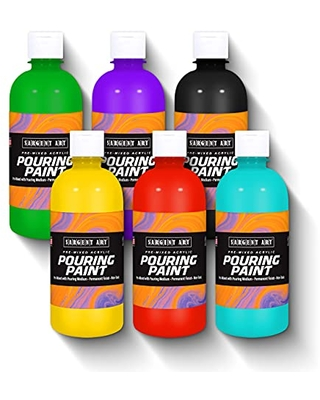 26 8506 6ct Pre Mixed Pouring Paint Acrylic - sargent art