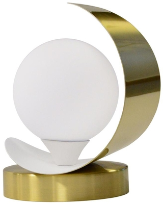 Crescent 7 in 1 Lights Aged Brass and Matte LED Table Lamp - dainolite