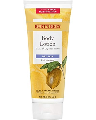 Burts Bees Butter Body Lotion for Dry Skin with Cocoa & Cupuau Package May Vary - burt's bees