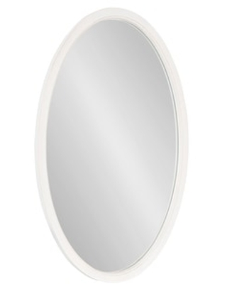 Hogan Oval Framed Wall Mirror - kate and laurel