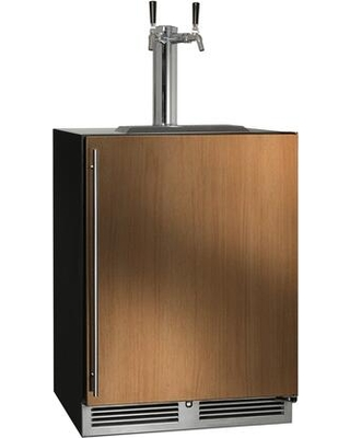 HC24TB 4 2RL 2 C Series Indoor Beer Dispenser with 2 cu ft Capacity RAPIDcool Forced air System Stainless Steel Faucet Dual Tap Door Lock - perlick