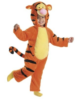 Disguise Tigger Deluxe Two-Sided Plush Jumpsuit Costume - Large (4-6), Orange