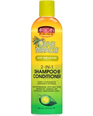 Miracle Anti Breakage Formula 2 in 1 Shampoo & Conditioner 12 fl oz Bottle - african pride
