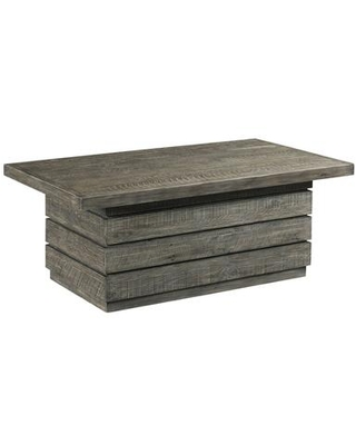 Reclamation Place Shiplap Collection 849 910 RECTANGULAR COCKTAIL TABLE - hammary