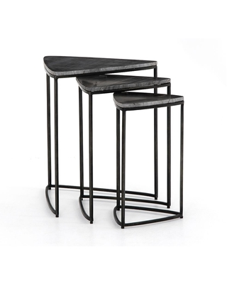 Cecilia Marble Nesting End Tables - undefined