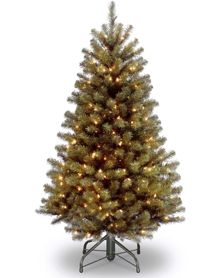 5' Pre Lit Medium North Valley Spruce Artificial Christmas Tree Clear Lights - national tree