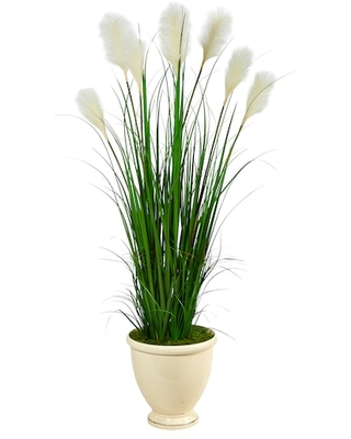 5Ft Wheat Plume Grass Plant in Urn Planter By Michaels(r) - nearly natural
