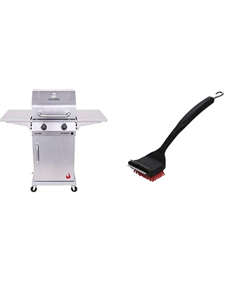 463660421 Performance 2 Burner Cabinet Style Liquid Propane Gas Grill Stainless Steel & SAFER Replaceable Head Nylon Bristle Grill Brush - char-broil