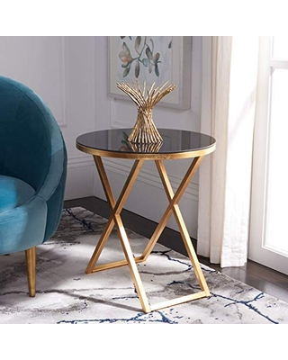 Home Collection Riona andBlack Glass Top Accent Table - safavieh