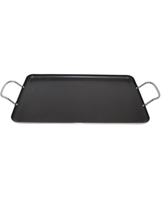Nonstick Double Burner Griddle with Metal Handles - imusa