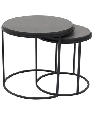 Roost Collection VH 1008 02 Nesting Tables with Iron Base - moes home collection
