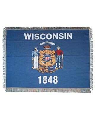 State Flag Woven Tapestry Throw Blanket Multi Color - the northwest company