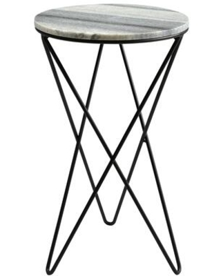 Evangeline Collection IK 1005 15 Accent Table with Powder Coated Iron Base - moes home collection
