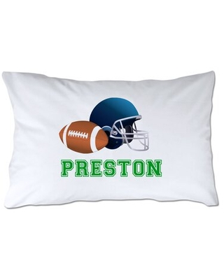 Personalized Football Pillow Case - 4 wooden shoes