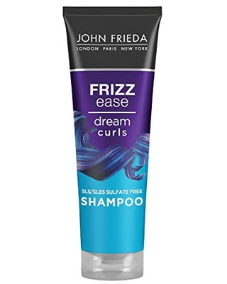 Frizz Ease Dream Curls Shampoo SLS SLES Sulfate Free Shampoo for Curly Hair Helps Control Frizz with Curl Enhancing Technology 45 Fluid Ounces - john frieda