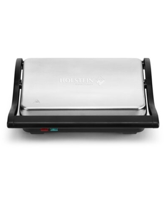 2 Slice Non Stick Electric Grill and Panini Press - holstein housewares