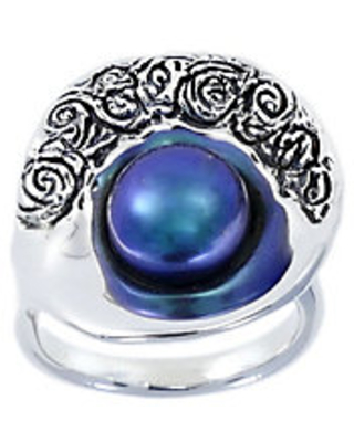 Sterling Cultured Freshwater Pearl ShellRing - hagit