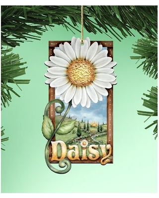Tidaholm Daisy Wooden Hanging Figurine Ornament - the holiday aisle