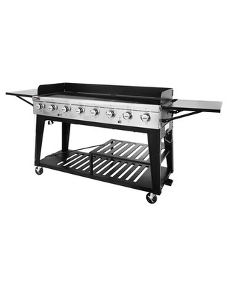 8 Burner Propane Gas Grill with Side Shelves - royal gourmet