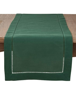 Rochester Collection Table Runner with Hemstitched Border - saro lifestyle