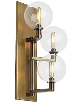 Gambit Triple LED Wall Sconce by Finish Brass 700WSGMBTCR LED927 - tech lighting