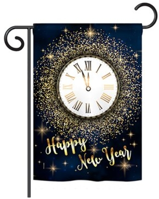 Midge Countdown New Year Winter Impressions 2 Sided Polyester 5 x 13 in Garden Flag - the holiday aisle