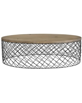 Celeste Collection VE 1054 15 Coffee Table with Powder Coated Iron Base - moes home collection