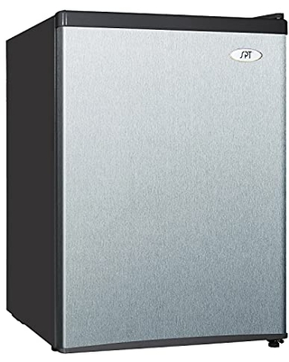 RF 244SSA 4 cu ft Compact Refrigerator in Stainless - Energy Star - spt
