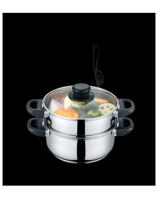 Stainless Steel Steamer Pot with Lid - concord cookware