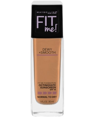 Fit Me Dewy + Smooth Liquid Foundation Makeup with SPF 18 Soft Honey - maybelline
