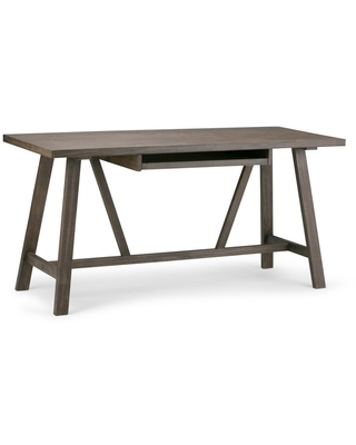 60 in Rectangular Writing Desk with Solid Wood Material - brooklyn + max