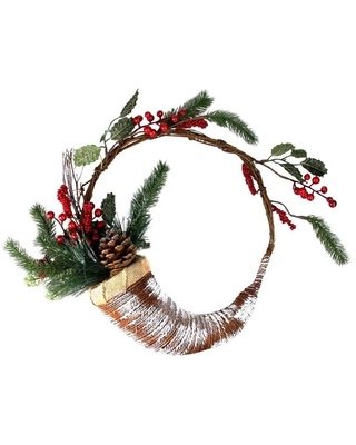 14 in Not Powered Frosted Artificial Christmas Wreath 32635079 - northlight