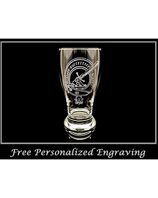 Clan MacMillan Scottish Crest Pint Glass Free Personalized Engraving Family Crest Pub Glass Beer Glass Custom Beer Glass - lyoncraft