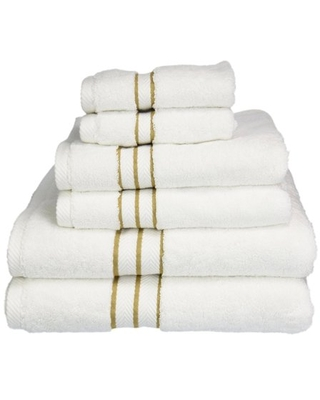 Turkish Cotton Plush 6 Piece Solid Highly Absorbent Toast Towel Set by Superior - impressions
